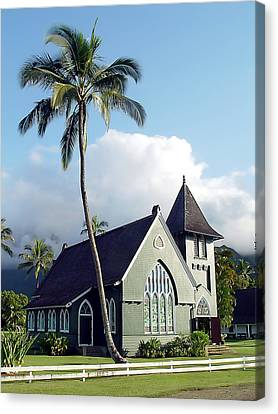 Hanalei Church 2 Canvas Print by John Bushnell