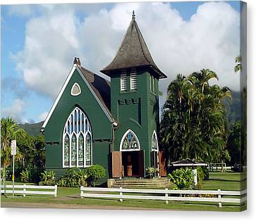 Hanalei Church Canvas Print by John Bushnell