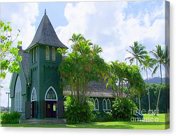 Hanalei Church Canvas Print by Mary Deal