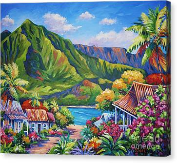 Tunnels Canvas Print - Hanalei In Bloom by John Clark