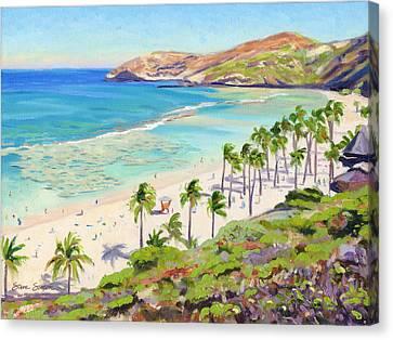 Hanauma Bay - Oahu Canvas Print by Steve Simon