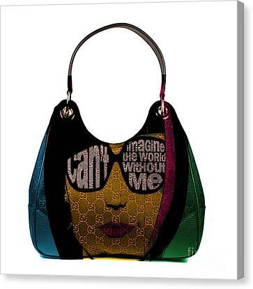 High Heels Canvas Print - Hand Bag Art by Marvin Blaine