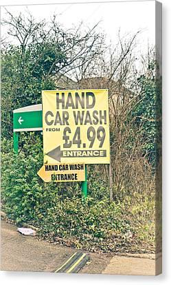 Hand Car Wash Canvas Print by Tom Gowanlock