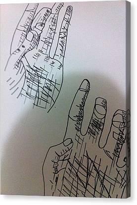 Hand Drawing Canvas Print by Khoa Luu