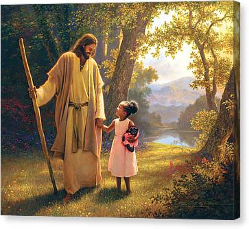 Hand In Hand Canvas Print by Greg Olsen