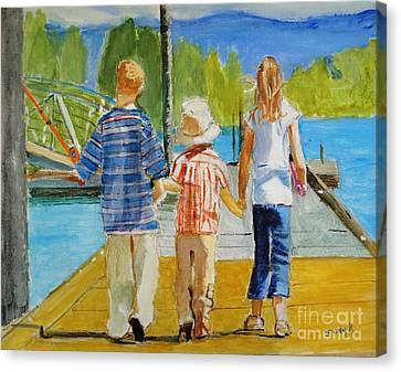 Emotive Canvas Print - Hand In Hand by Judy Kay
