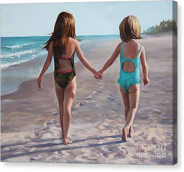 Hand In Hand  Canvas Print by Laurie Hein