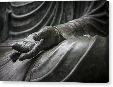 Hand Of Buddha - Japanese Tea Garden Canvas Print by Adam Romanowicz