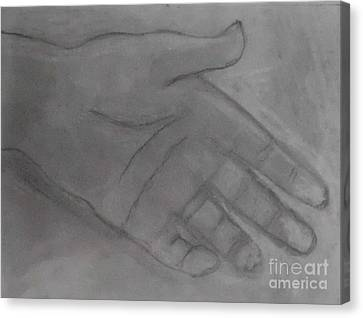 Hand Of God Canvas Print by James Eye