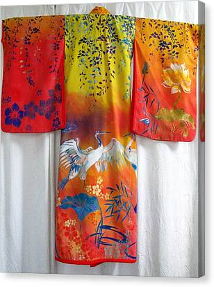 Hand-painred Kimono Canvas Print