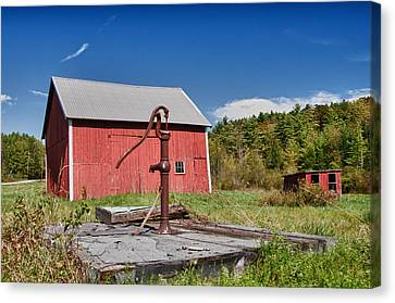 Hand Pump Canvas Print by Guy Whiteley