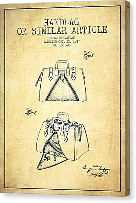 Handbag Or Similar Article Patent From 1937 - Vintage Canvas Print by Aged Pixel