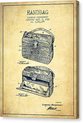 Handbag Patent From 1936 - Vintage Canvas Print by Aged Pixel