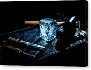 Handcrafted Icecube Canvas Print by Wolfgang Simm