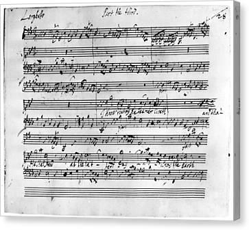 Autographed Canvas Print - Handel Music Sheet by Granger