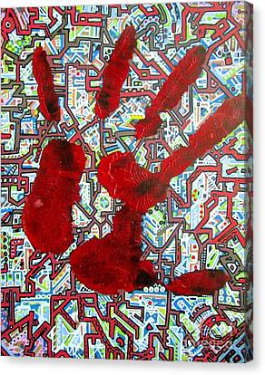 Circuit Board Canvas Print - Handiclap by John Foss