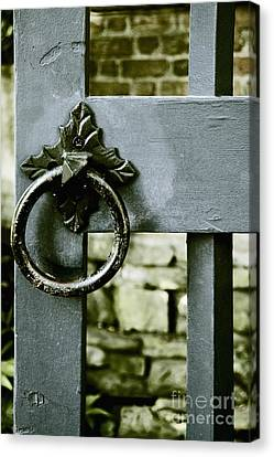 Handle On Blue Canvas Print by Margie Hurwich