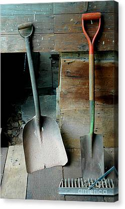 Canvas Print featuring the photograph Handled And Raked by Christiane Hellner-OBrien