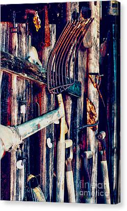 Canvas Print featuring the photograph Handles And The Pitchfork by Lesa Fine