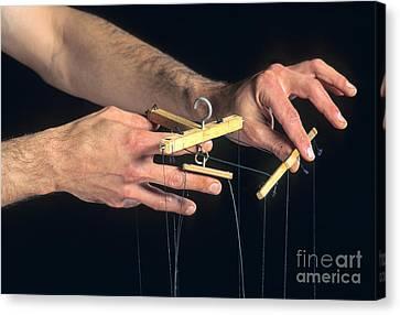 Agility Canvas Print - Hands Of A Puppeteer by Bernard Jaubert