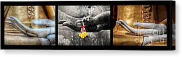 Hands Of Buddha Canvas Print by Adrian Evans