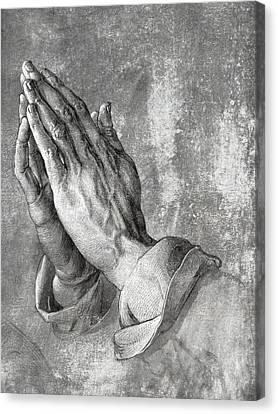 Hands Of Prayer  1508 Canvas Print by Daniel Hagerman