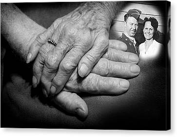 Canvas Print featuring the photograph Time On Our Hands by Shirley Heier