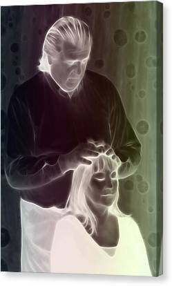 Canvas Print featuring the digital art Hands On Healing by Holly Ethan