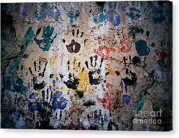 Hands On Wall Canvas Print by Eva Kato