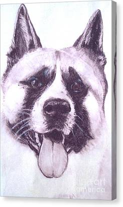 Handsome Akita Canvas Print by Lucia Grilletto