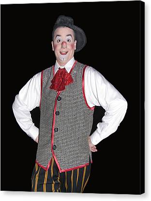 Handsome Clown At The Circus Canvas Print by Susan Leggett