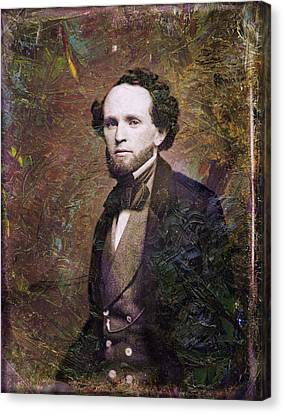 Handsome Fellow 3 Canvas Print by James W Johnson