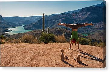 Handstand At Apache Lake Canvas Print