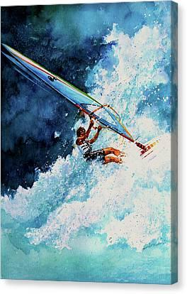 Hang Ten Canvas Print by Hanne Lore Koehler