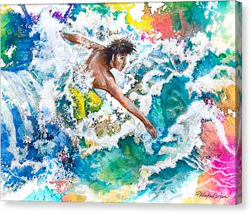 Seacape Canvas Print - Hang Ten Or Twenty by Patricia Allingham Carlson
