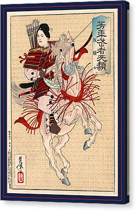 Hangakujo, The Female Warrior Hangaku. Japan  Tsunajima Canvas Print