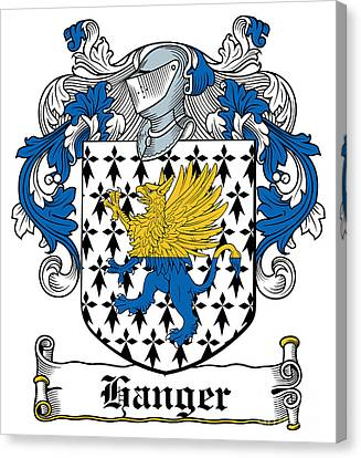 Hanger Coat Of Arms Irish Canvas Print by Heraldry
