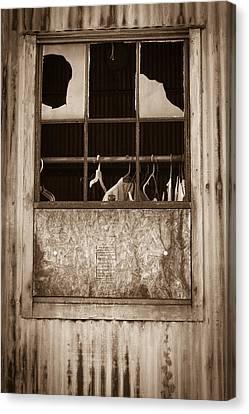 Hangers In The Window Canvas Print by Randy Bayne