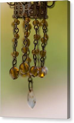 Depth Of Field Canvas Print - Hanging Beaded Votive Abstract  3 by Scott Campbell