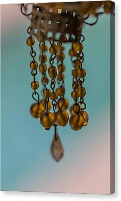 Depth Of Field Canvas Print - Hanging Beaded Votive Abstract 4 by Scott Campbell