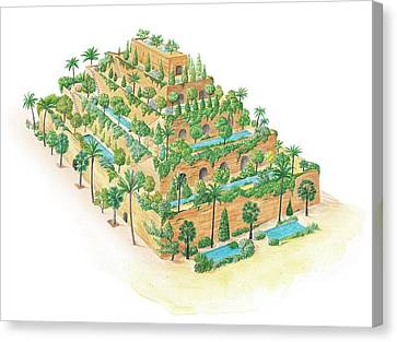 Hanging Gardens Of Babylon Canvas Print by Gary Hincks