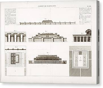 Hanging Gardens Of Babylon Canvas Print by Science, Industry And Business Library/new York Public Library
