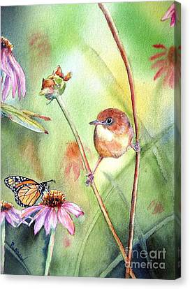 Hanging In There Canvas Print by Patricia Pushaw