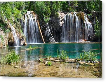 Lush Colors Canvas Print - Hanging Lake - Colorado by Aaron Spong