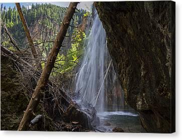 Hanging Lake Falls Canvas Print by Michael J Bauer