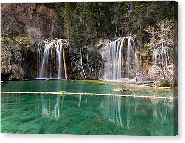 Canvas Print featuring the photograph Hanging Lake by Jay Stockhaus