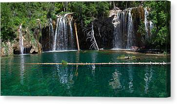 Lush Colors Canvas Print - Hanging Lake Panorama by Aaron Spong