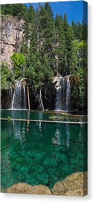 Lush Colors Canvas Print - Hanging Lake Vertical Panorama by Aaron Spong