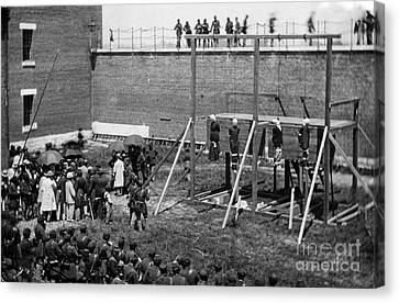 Hanging Of Lincoln Conspirators Mary Surratt Lewis Powell David Herold George Atzerodt Canvas Print