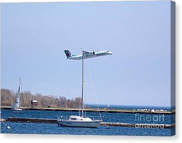 Airoplane Canvas Print - Hanging On by Irfan Gillani